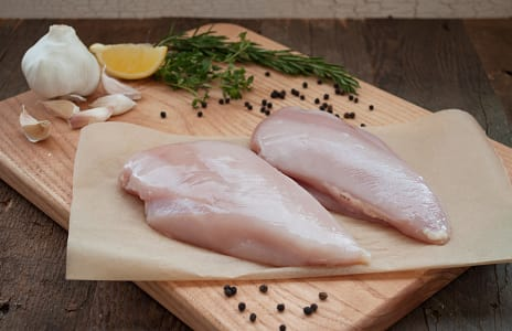 Unmedicated Free Run Boneless Skinless Chicken Breasts (Frozen)- Code#: MP264-NV