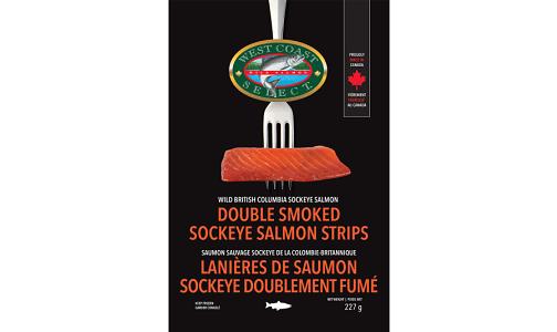 Double Smoked Sockeye Strips (Frozen)- Code#: MP1358