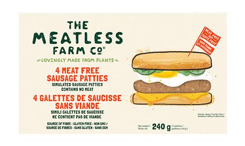 Meatless Farm Sausage Patties (Frozen)- Code#: MP1363