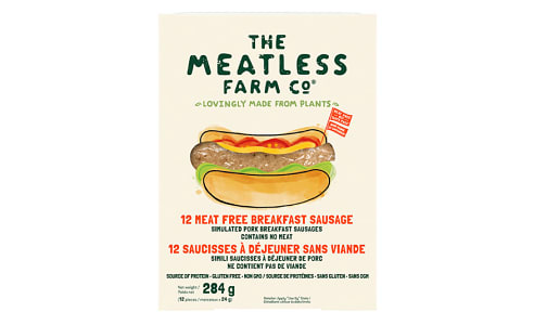 Meatless Farm Bkfast Sausages (Frozen)- Code#: MP1364