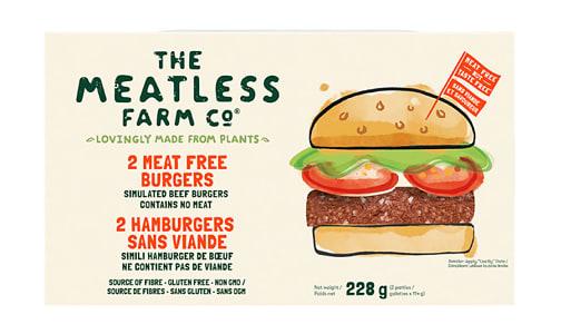 Meatless Farm Burgers (Frozen)- Code#: MP1365