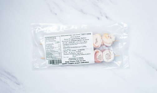 Bacon Wrapped Scallops Skewers (Frozen)- Code#: MP1388