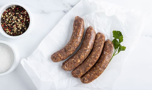 Paleo Brats (Grass-fed Venison/Beef) (Frozen)- Code#: MP1750