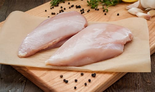 Free Run Boneless Skinless Chicken Breasts (Frozen) (Frozen)- Code#: MP1820FRZ