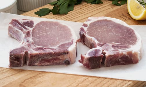 2 Pork Loin Chops Bone-In (Frozen)- Code#: MP3267
