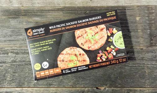 Sockeye Salmon Burgers (Frozen)- Code#: MP3273