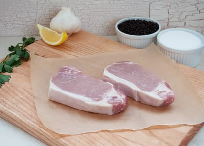 Boneless Pork Loin Chop (Frozen)- Code#: MP3885
