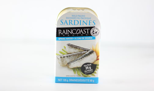 Wild Pacific Sardines in Spring Water- Code#: MP664