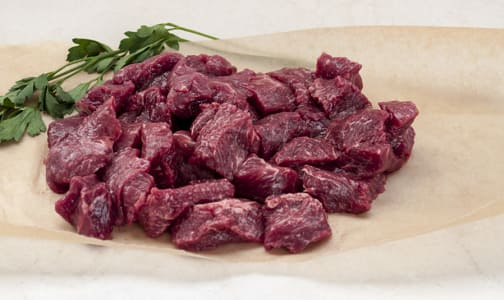 Beef Stir Fry, Grass Fed/Grass Finished- Dry Aged (Frozen)- Code#: MP0247