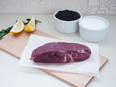 Canadian Rangeland Bison Striploin Steak (Frozen)- Code#: MP826-NV
