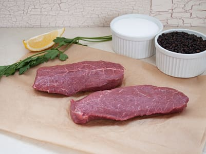 Chuck Eye Steaks, Grass Fed/Grass Finished- Dry Aged (Frozen)- Code#: MP0238