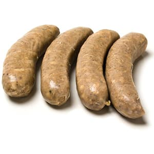 Pork BRATWURST Sausages, Pasture Raised (Frozen)- Code#: MT8020