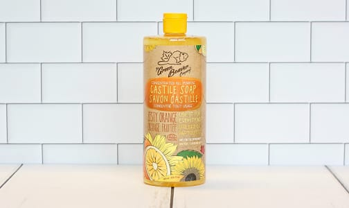 Organic Sunflower Castile Soap,  Zesty Orange- Code#: PC0065