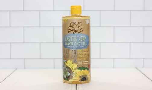 Organic Sunflower Castile Soap,  Frosty Mint- Code#: PC0066