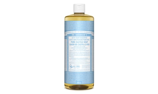 Organic 18-in-1 Hemp Pure-Castile Soap - Baby Unscented- Code#: PC0112