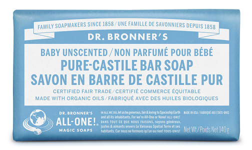 All-One Pure-Castile Bar Soap - Baby Unscented- Code#: PC0113