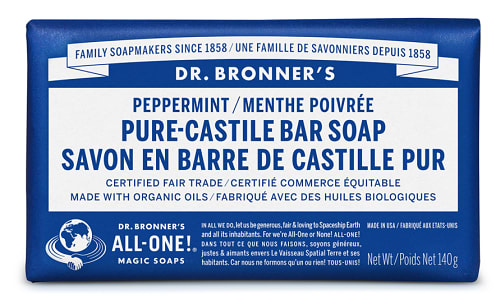 All-One Pure-Castile Bar Soap - Peppermint- Code#: PC0114