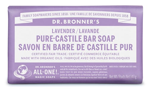 All-One Pure-Castile Bar Soap - Lavender- Code#: PC0115