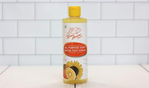 Extra Gentle Castile Sunfower Liquid Soap -  Zesty Orange- Code#: PC0130