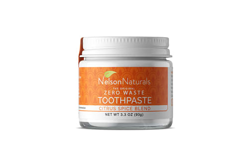 Organic Remineralizing Toothpaste - Citrus Spice Blend- Code#: PC0195
