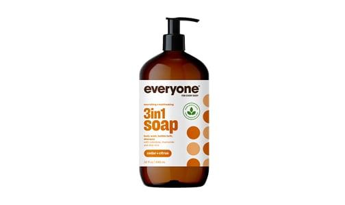 Mens 3-in-1 Soap - Cedar & Citrus- Code#: PC0242