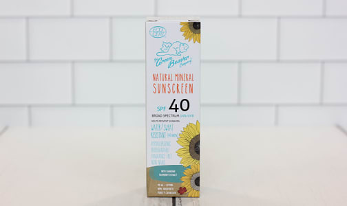 Organic Adult SPF40 Sunscreen- Code#: PC0353
