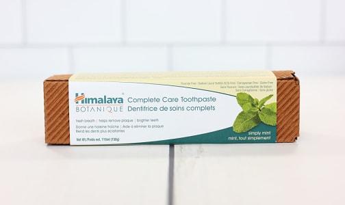 Organic Toothpaste Mint- Code#: PC0617