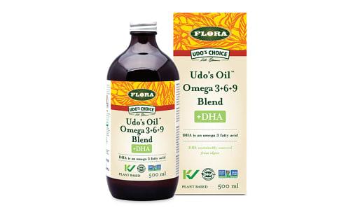 Organic Udos Oil 3-6-9 Blend + DHA- Code#: PC0689