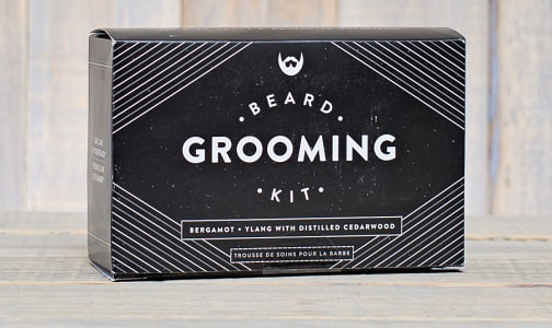 Beard Grooming Kit - Bergamot + Ylang with Distilled Cedarwood- Code#: PC0801