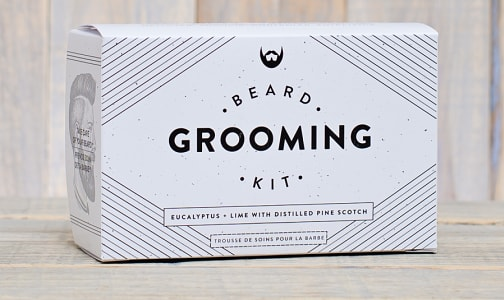 Beard Grooming Kit - Eucalyptus & Lime with Distilled Pine Scotch- Code#: PC0803