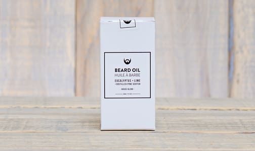 Beard Oil - Eucalyptus & Lime with Distilled Pine Scotch- Code#: PC0809