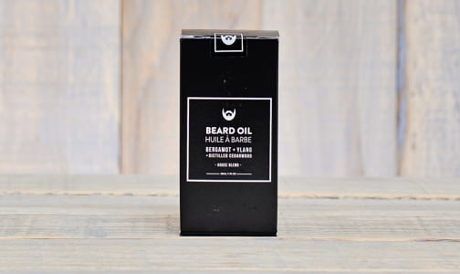 Beard Oil - Bergamot + Ylang with Distilled Cedarwood- Code#: PC0813