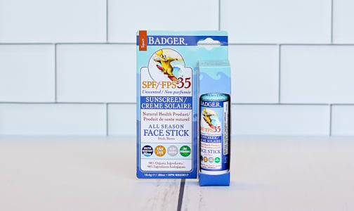 SPF 35 All Season Face Stick Unscented- Code#: PC1013
