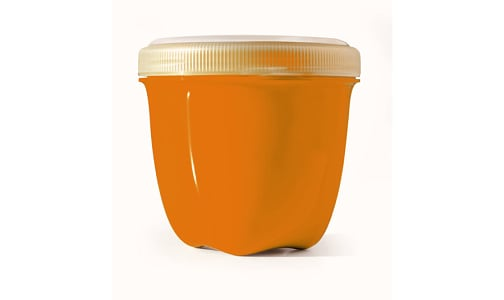Mini Round Food Storage - Orange- Code#: PC10641