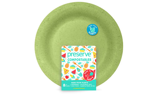 Compostable Large Plates - Green- Code#: PC10651