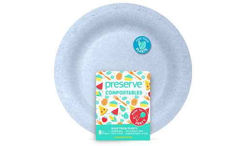Compostable Large Plates - Blue- Code#: PC10652
