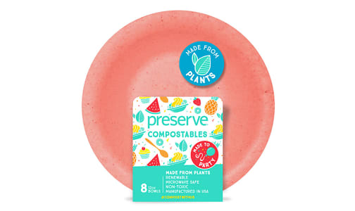 Compostable Bowls - Red- Code#: PC10654