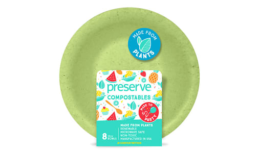 Compostable Bowls - Green- Code#: PC10655