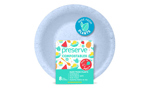 Compostable Bowls - Blue- Code#: PC10656