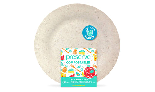 Compostable Small Plates - Natural- Code#: PC10657