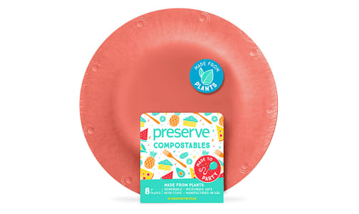 Compostable Small Plates - Red- Code#: PC10658