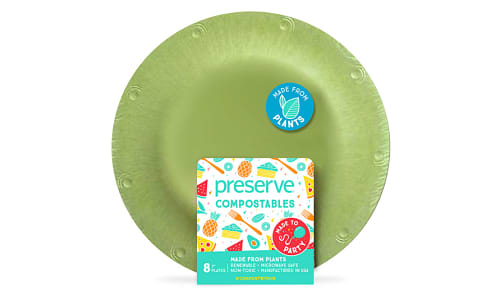 Compostable Small Plates - Green- Code#: PC10659