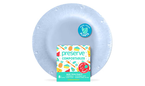 Compostable Small Plates - Blue- Code#: PC10660