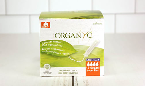 Organic Tampon Compact Applicator - Super Plus- Code#: PC10663