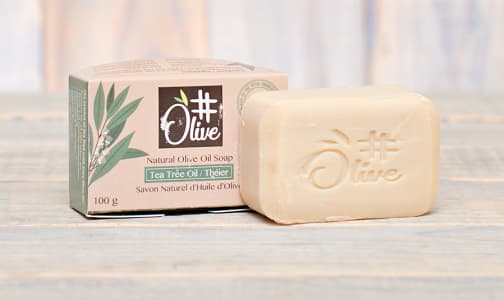 Organic Tea Tree Natural Olive Oil Soap- Code#: PC1166