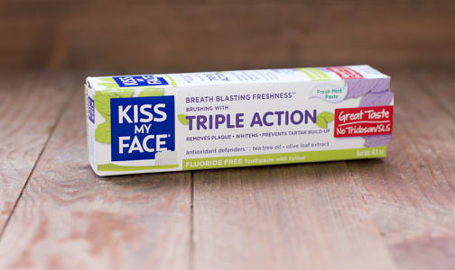 Triple Action Fluoride Free Fresh Mint Paste- Code#: PC1222