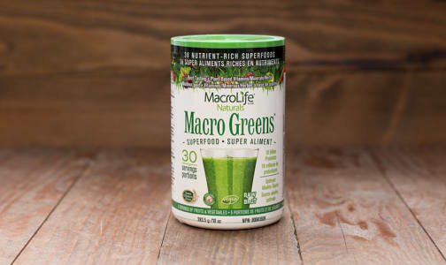 Organic Macro Greens - 30 day- Code#: PC1250