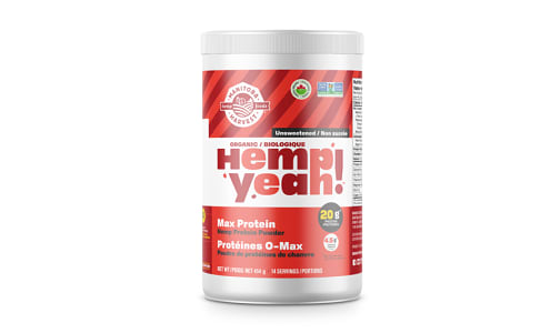 Hemp Yeah! Max Protein Hemp Powder - Unsweetened- Code#: PC1262