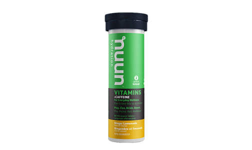 Vitamins + Caffeine - Ginger Lemonade Tablets- Code#: PC1481
