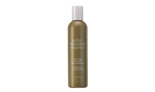 Organic Zinc & Sage Shampoo with Conditioner- Code#: PC1722